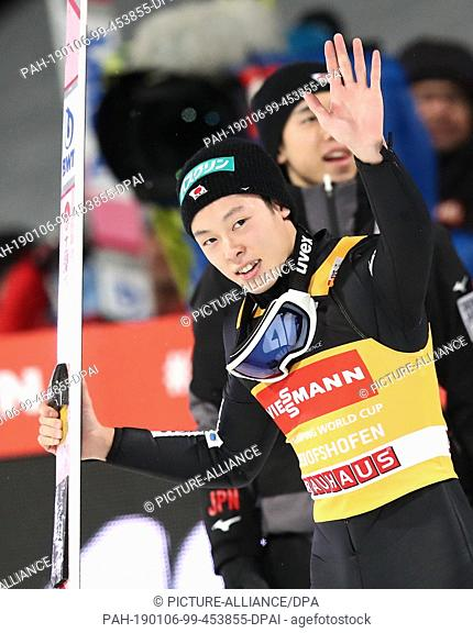 06 January 2019, Austria, Bischofshofen: Nordic skiing / ski jumping: World Cup, Four Hills Tournament Großschanze, Men, Final