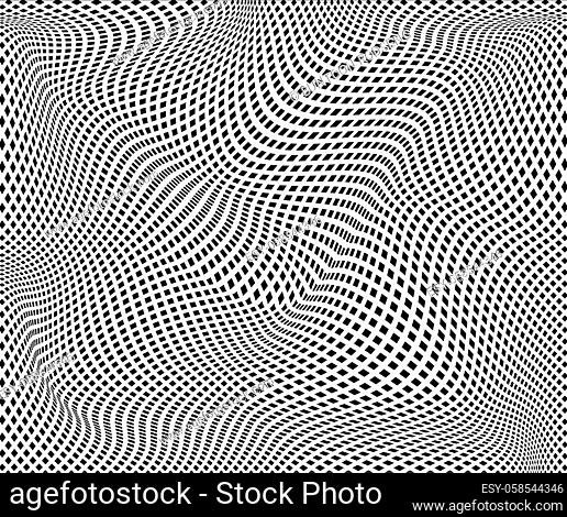 Wave Stripe Background - simple texture for your design. EPS10 vector