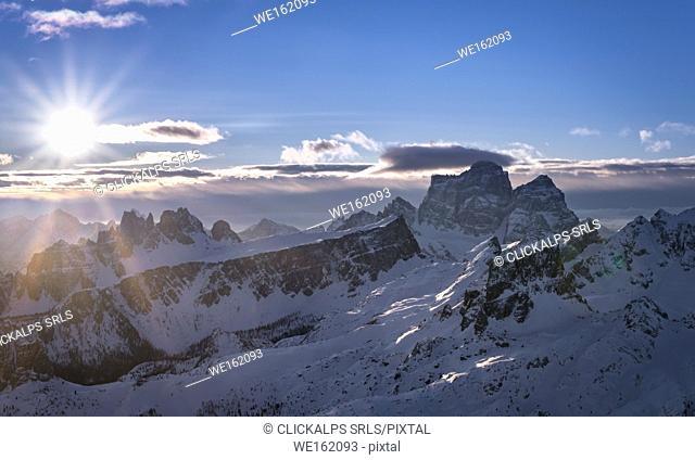 Pelmo mountain, Dolomites, Cortina d'Ampezzo, Belluno district, Veneto, Italy