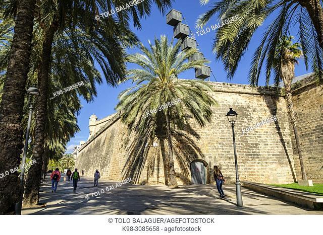 Baluarte de Sant Pere, siglo XVI , recinto renacentista, Palma, Mallorca, balearic islands, Spain