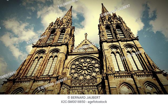 The Gothic Cathedral Notre-Dame-de-l?'Assomption of Clermont-Ferrand, Auvergne, France