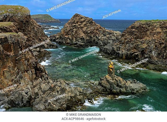 Cliffs on coast of the Atlantic Ocean Elliston Newfoundland & Labrador Canada