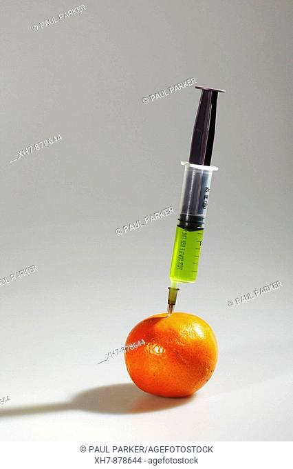 Poison 'Food Additive' Hypodermic Orange Syringe