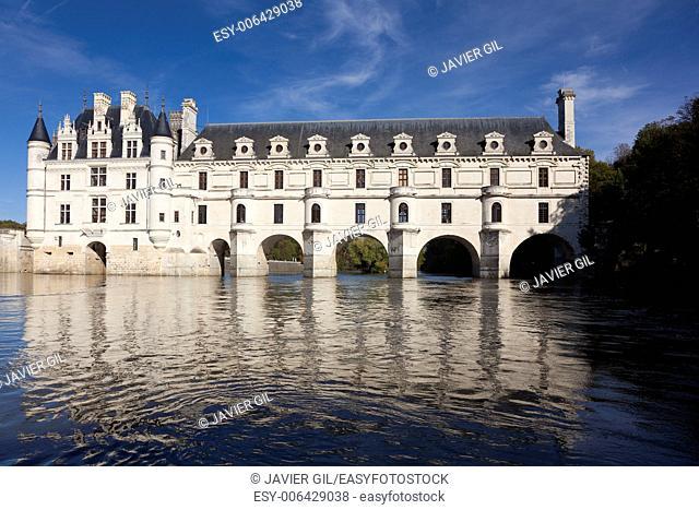Castle of Chenonceaux, Indre-et-Loire, Centre, France