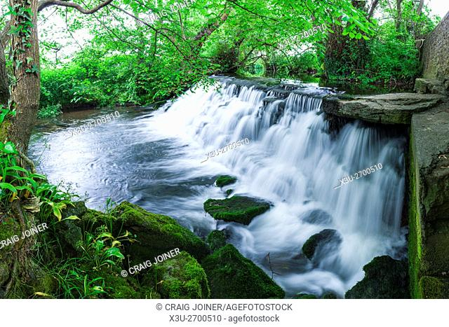 Tumbling Weir on the River Yeo at Wrington, North Somerset, England