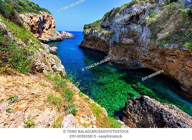 sAlgar beach Cala Rafalet in Menorca at Balearic Islands of Spain