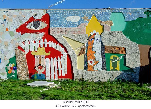 Josi Marti childrens playground artworks, in Vededo, Havana, Cuba