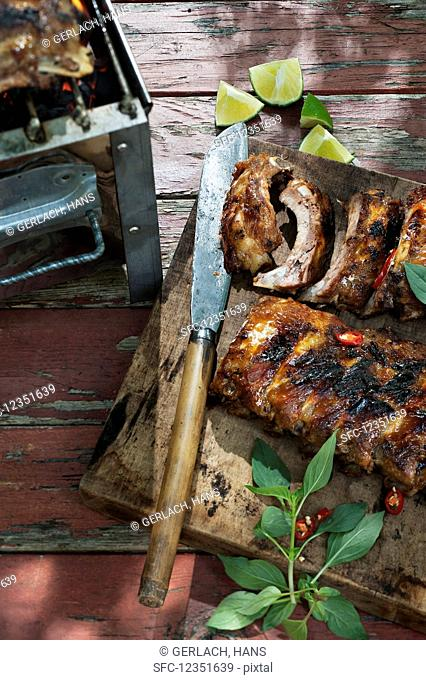 Grilled Thai-style ribs with chili