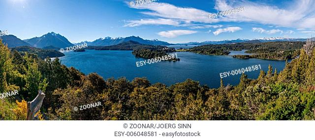 Nahuel Huapi lake at Bariloche Argentina PANORAMA