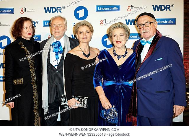"Photocall for the 30th anniversary of German ARD TV series """"Lindenstrasse"""". Featuring: Irene Fischer, Joachim H. Luger, Andrea Spatzek, Marie-Luise Marjan"