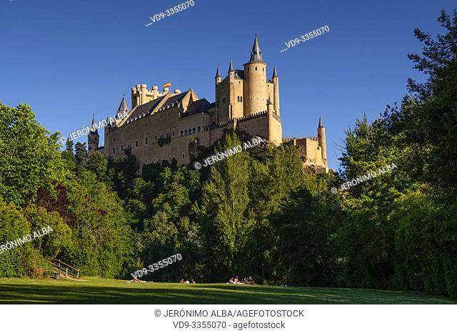 Alcazar, Fortaleza de los Reyes de Castilla y Real Colegio de Artillería. UNESCO World Heritage Site. Segovia city. Castilla León, Spain Europe