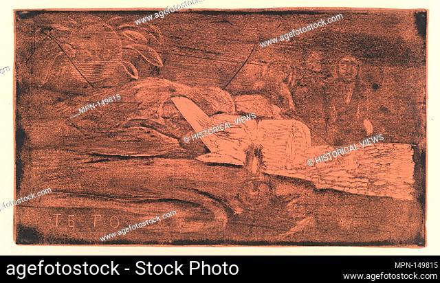 Te Po. Artist: Paul Gauguin (French, Paris 1848-1903 Atuona, Hiva Oa, Marquesas Islands); Date: 1893-94; Medium: woodcut on wove paper; Dimensions: 8 3/16 x 14...