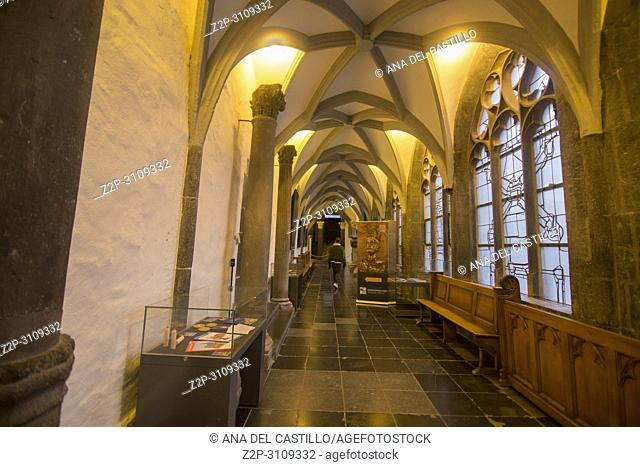Cityscape in Aachen Westphalia . Germany
