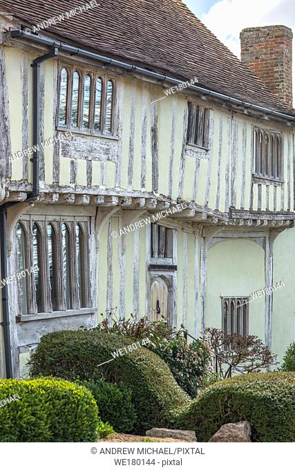 Tudor Half-timbered houses in the village of Lavenham, Suffolk, England, United Kingdom, Europe