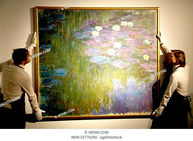 'Nympheas en fleur' by Claude Mone, one of the items going under the hammer at an auction of an art collection amassed by billionaire David Rockefeller