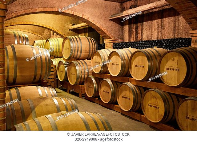 Les Caves Cisterciennes, Cellar, Champagne Drappier, Urville, Aube, Champagne-Ardenne, France, Europe