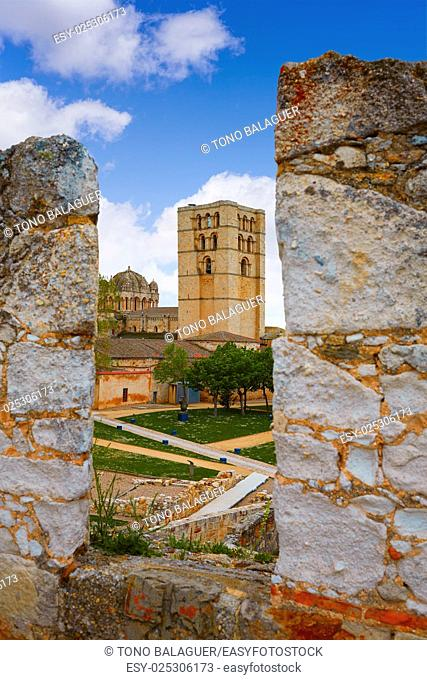 Zamora the castle El Castillo in Spain by Via de la Plata way to Santiago