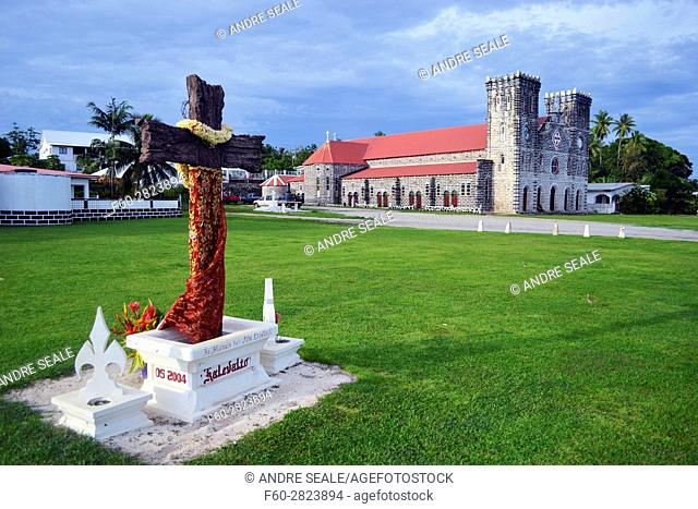 Our Lady of Good Hope Cathedral in downtown Matautu, Wallis Island, Wallis and Futuna, Melanesia, South Pacific