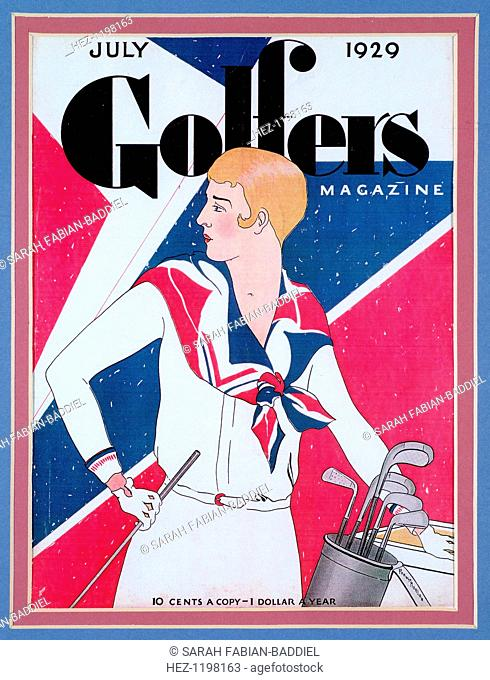 Cover of Golfers Magazine, American, July 1929. A British special for the Open championship