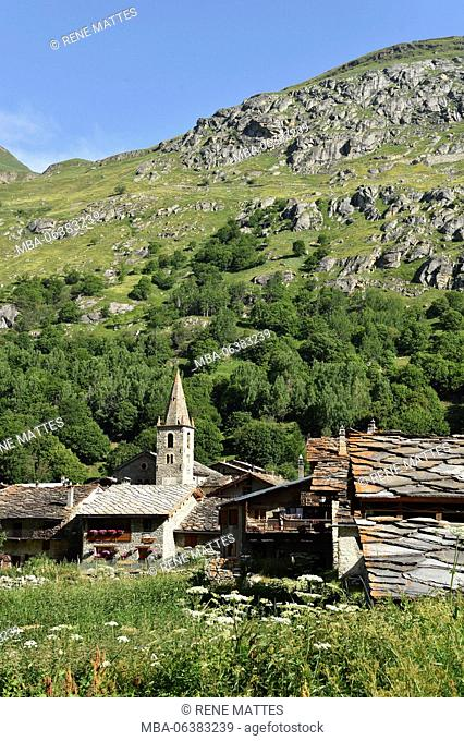 France, Savoie, Vanoise National Park, Bonneval sur Arc labelled The Most Beautiful Villages of France (Les Plus Beaux Village de France)