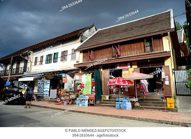 Thanon Sisavangvong street of Luang Prabang, Laos
