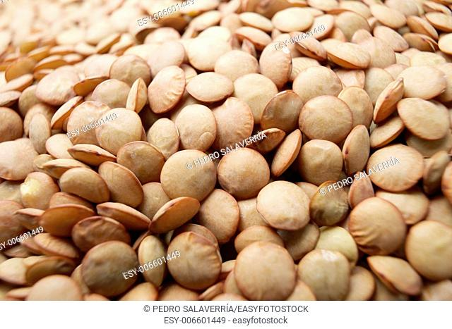 Background crated by brown lentils group
