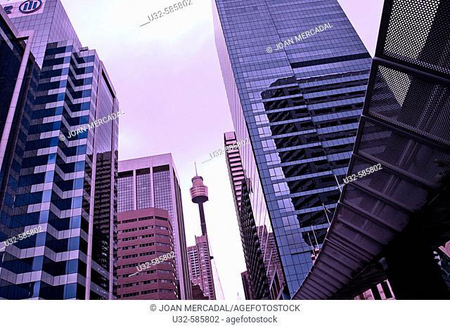 City Center. Monorail. Sidney, Australia