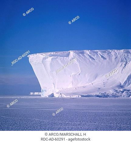 Ice shelf front near Atka bay, Weddell Sea, Antarctica