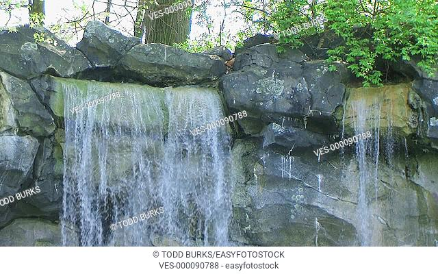 Close-up of small waterfall