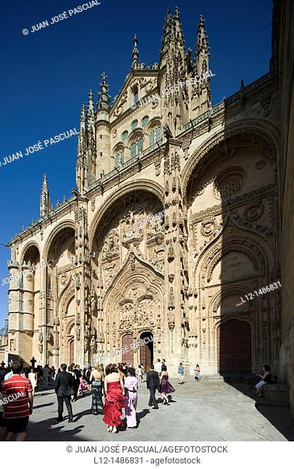 New Cathedral, west door, Salamanca, Castilla y León, Spain