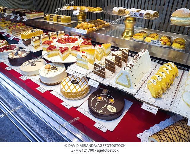 Cakes. Madrid, Spain