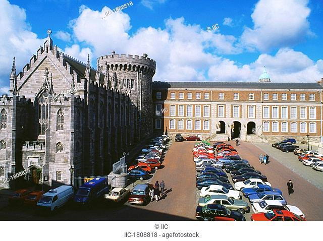 Church Of The Most Holy Trinity, Dublin Castle, Dublin, Co Dublin, Ireland, 19th Century church and castle