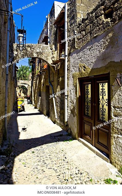 Greece, Rhodes, street