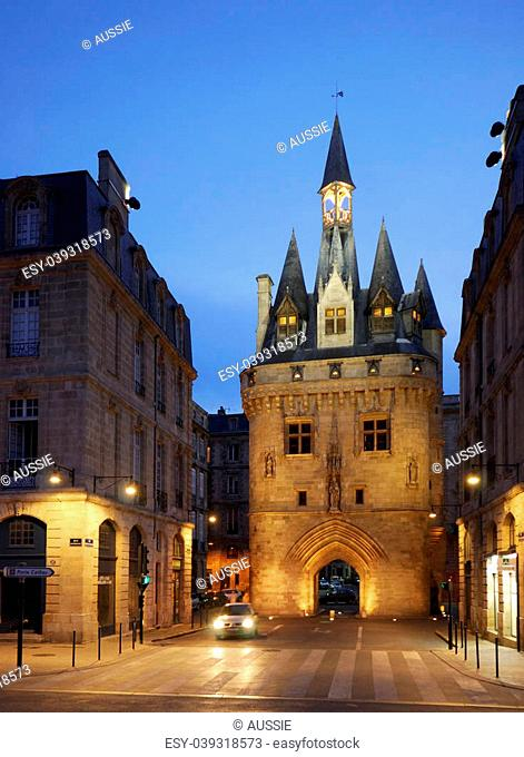 City Gate Porte Cailhau in Bordeaux, FranceThis gate is an UNESCO World Heritage site