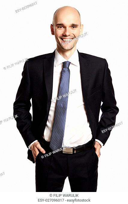 Portrait of a smiling young man working in finance