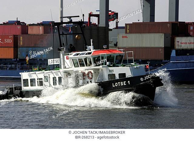 Pilot boat, Port of Hamburg, Hamburg, Germany