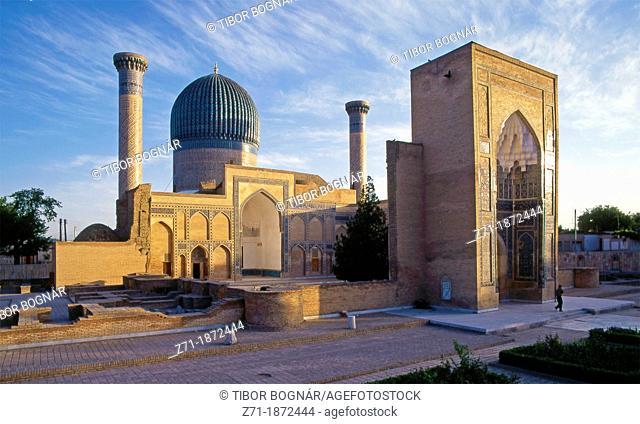 Uzbekistan, Samarkand, Gur Amir, Tamerlane's Mausoleum