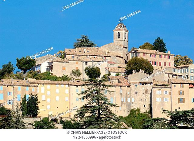 View of Perched Village of Banon Alpes-de-Haute-Provence Provence France