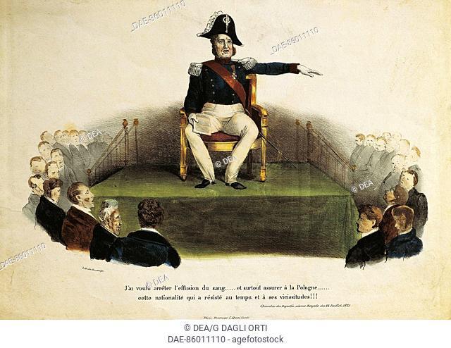 France - 19th century - Satyrized Louis-Philippe at Chamber of Deputies session, July 23rd, 1831  Paris, Bibliothèque Polonaise De Paris Societé Historique Et...