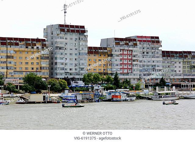 Romania, Tulcea at the Danube, Saint George branch, Tulcea County, Dobrudja, Gate to the Danube Delta, city view, harbour