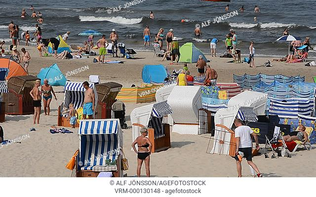 The beach in Swinoujscie