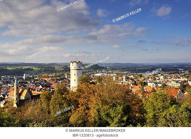 View on the historic city centre of Ravensburg, Ravensburg county, Baden-Wuerttemberg, Germany, Europe
