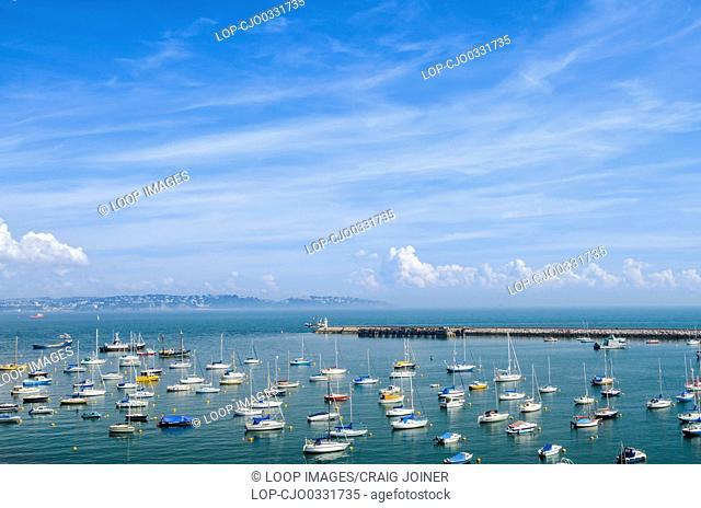 View over the marina at Brixham and Torbay