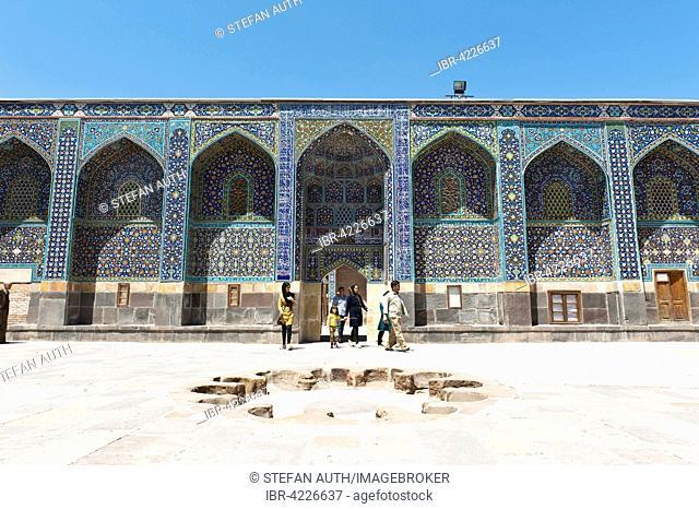 Inner courtyard of Safi-ad-Din Ardabili Mausoleum, Ardabil, Iran