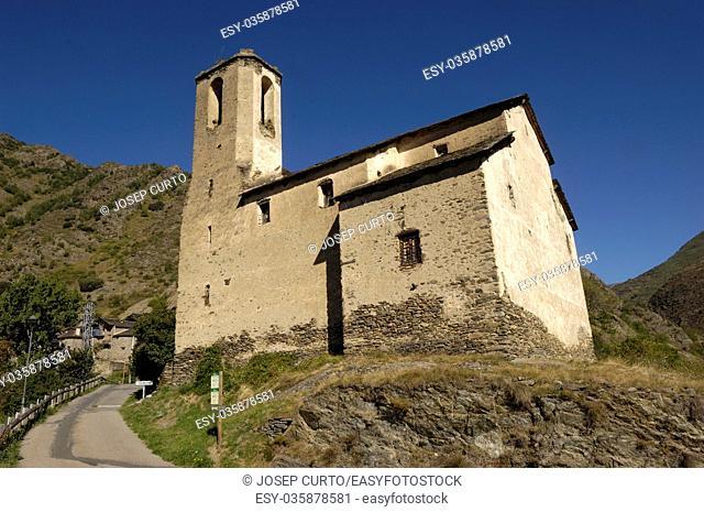Santa Eulalia, Estaon, Pallars Sobira, Lleida province, Pyrenees, Catalonia, Spain