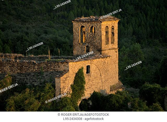 Ruins of an abandoned village in the Spanish Pyrenees
