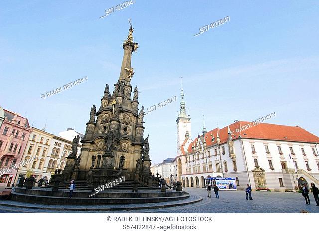 UNESCO - Holy Trinity Column, Olomouc, Northern Moravia, Czech Republic