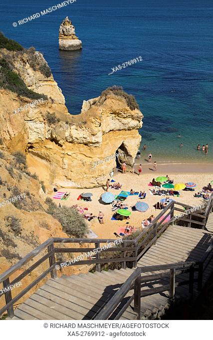 Steps Leading to Beach, Praia do Camilo, Lagos, Algarve, Portugal