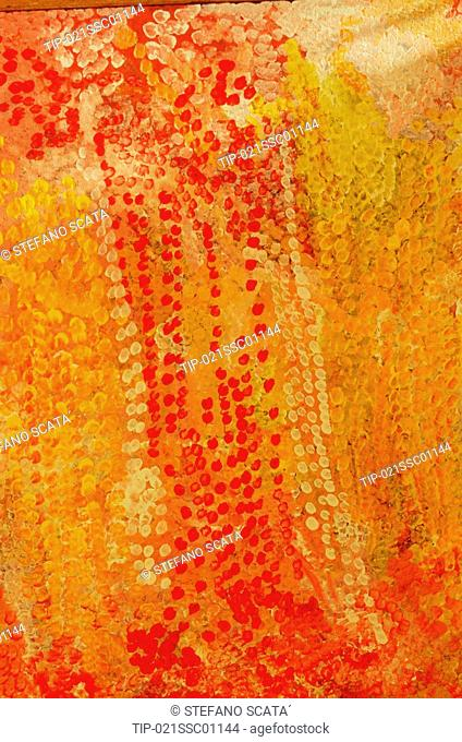 Australia, Northern Territory, painting by Emily Kame aboriginal artist