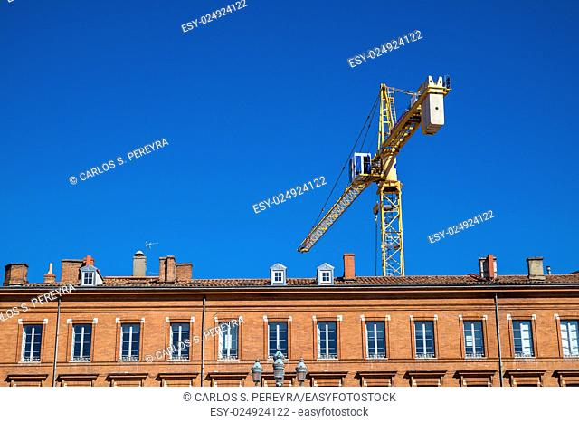 Crane in the downtown of Toulouse France Europe